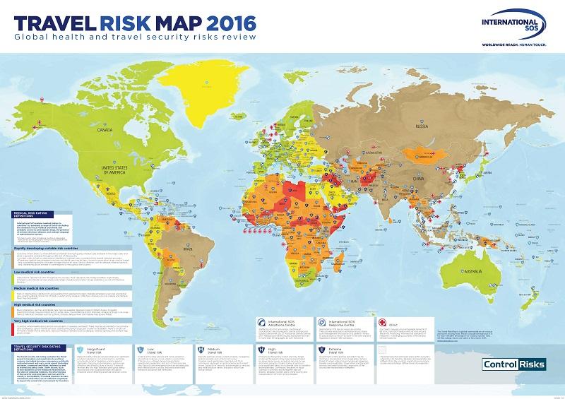International SOS Introduces Global Travel Risk Map
