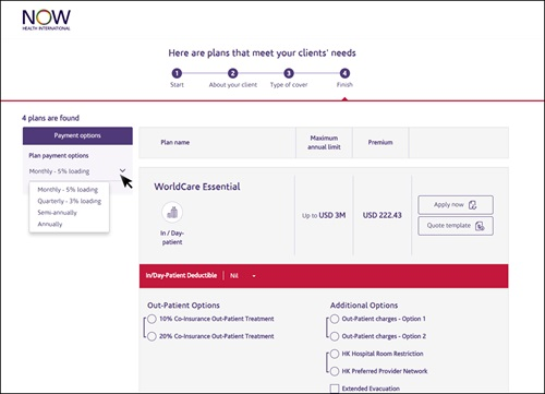 Now Health International Launches New Broker Quote Tool