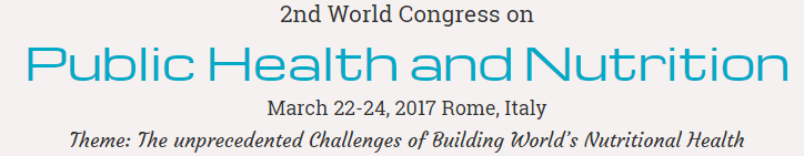 2nd World Congress on Public Health and Nutrition